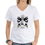 Snead Family Crest Women's V-Neck T-Shirt