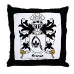 Snead Family Crest Throw Pillow