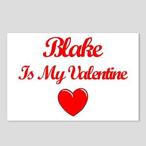 Blake is my Valentine  Postcards (Package of 8)
