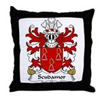 Scudamore Family Crest Throw Pillow