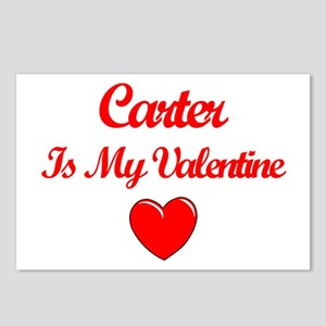 Carter is my Valentine  Postcards (Package of 8)