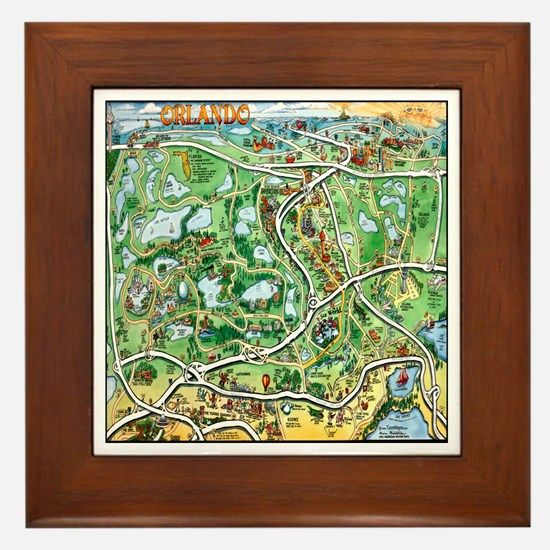 Unique Orlando Framed Tile
