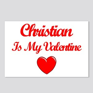 Christian is my Valentine  Postcards (Package of 8