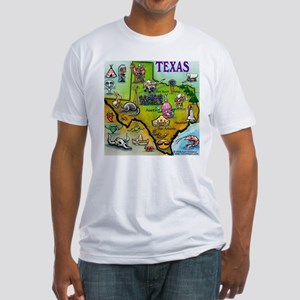 Texas Map Fitted T-Shirt