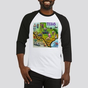 Texas Map Baseball Jersey