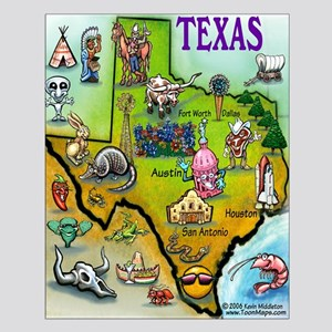 Texas Map Small Poster