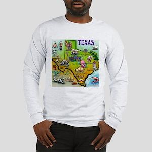3-TEXASmapT Long Sleeve T-Shirt