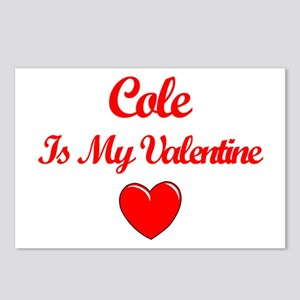 Cole is my Valentine  Postcards (Package of 8)
