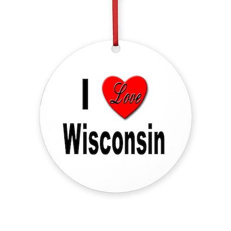 I Love Wisconsin Keepsake (Round)