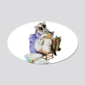 Moppet Gets a Bath by Beatrix Potter Wall Decal