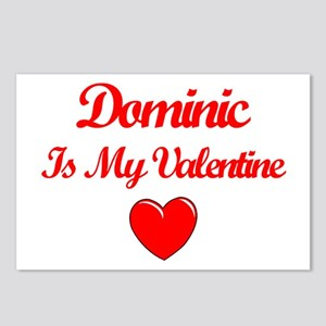 Dominic is my Valentine  Postcards (Package of 8)