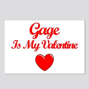 Gage is my Valentine  Postcards (Package of 8)