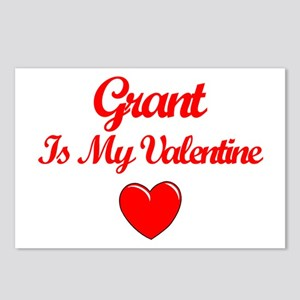 Grant is my Valentine  Postcards (Package of 8)