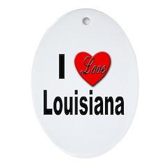 I Love Louisiana Keepsake (Oval)