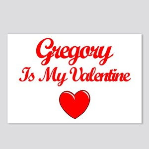 Gregory is my Valentine  Postcards (Package of 8)