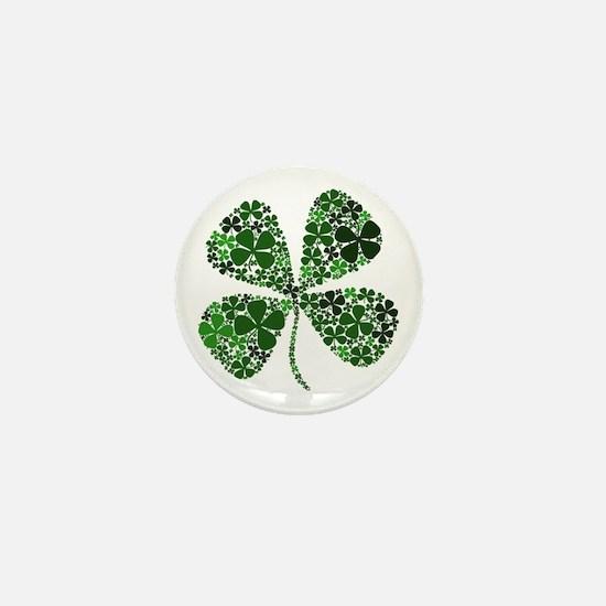 Extra Lucky Four Leaf Clover Mini Button