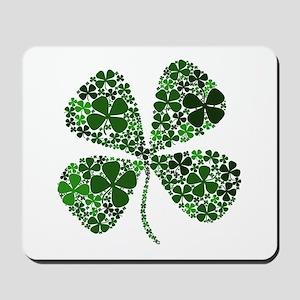 Extra Lucky Four Leaf Clover Mousepad