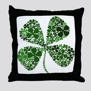 Extra Lucky Four Leaf Clover Throw Pillow