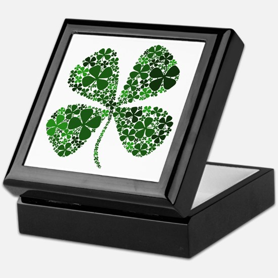 Extra Lucky Four Leaf Clover Keepsake Box