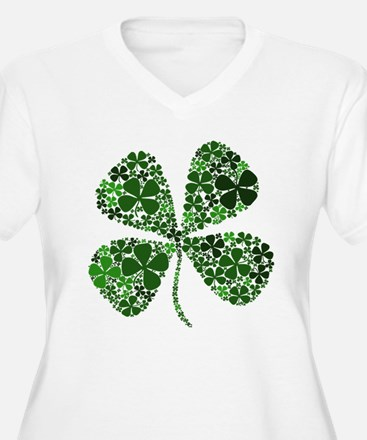 Extra Lucky Four Leaf Clover T-Shirt