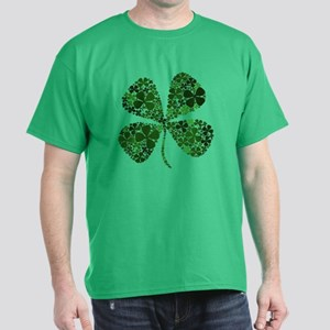 Extra Lucky Four Leaf Clover Dark T-Shirt