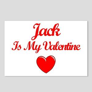 Jack is my Valentine  Postcards (Package of 8)
