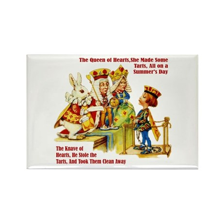 PAINTING THE QUEEN'S ROSES Rectangle Magnet (10 pa