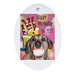 Happy Birthday Ornament (Oval)