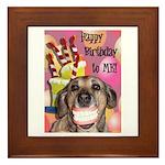 Happy Birthday Framed Tile