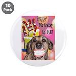 "Happy Birthday 3.5"" Button (10 pack)"