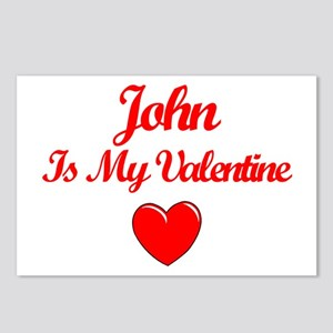 John is my Valentine  Postcards (Package of 8)