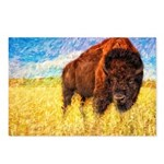 Bison on the Range Painting Postcards (Package of