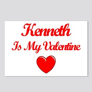 Kenneth is my Valentine  Postcards (Package of 8)
