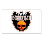 SPEED BONNEVILLE Rectangle Sticker