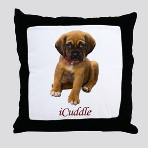 Cute iCuddle Puppy Dog Throw Pillow
