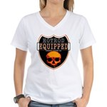 HOT ROD EQUIPPED Women's V-Neck T-Shirt