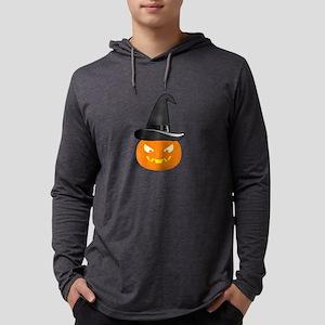 Jack O' Lantern with Black Wit Long Sleeve T-Shirt