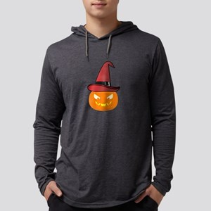 Jack O' Lantern with Red Witch Long Sleeve T-Shirt