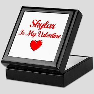SkylarIs My Valentine Keepsake Box