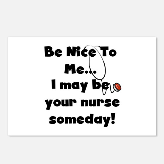 Nurse-Be Nice to Me Postcards (Package of 8)
