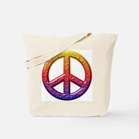 Groovy Peace Symbol I Tote Bag