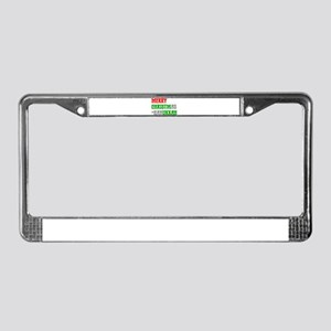 """Merry Christmukkah"" License Plate Frame"