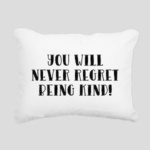 YOU WILL NEVER... Rectangular Canvas Pillow