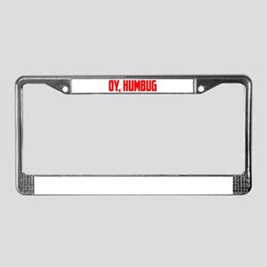 """Oy, Humbug"" License Plate Frame"