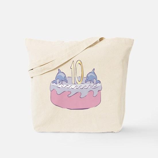 Tenth (10th) Birthday Tote Bag