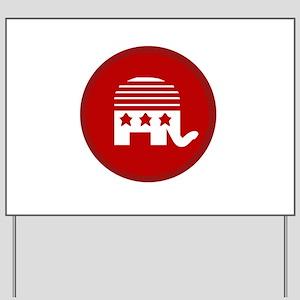Simple Republican Yard Sign