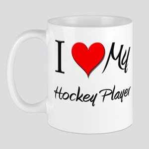 I Heart My Hockey Player Mug