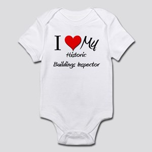 I Heart My Historic Buildings Inspector Infant Bod