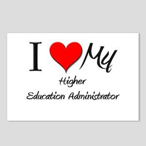 I Heart My Higher Education Administrator Postcard
