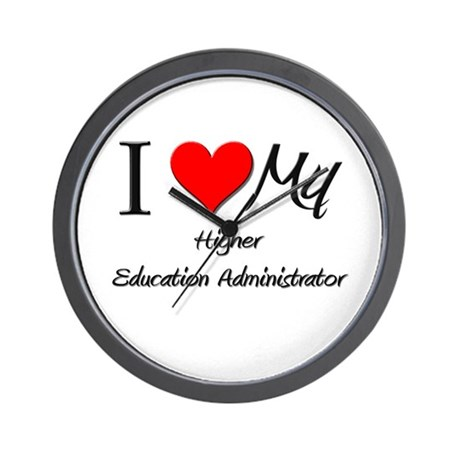 I Heart My Higher Education Administrator Wall Clo